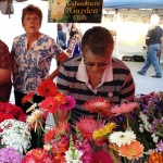 garden club stall and members